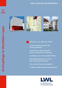 "Cover der ""Archivpflege in Westfalen-Lippe"" 92/2020"